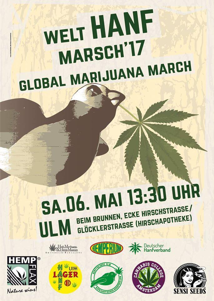Plakat vom Hanfmarsch am 6.5.2017